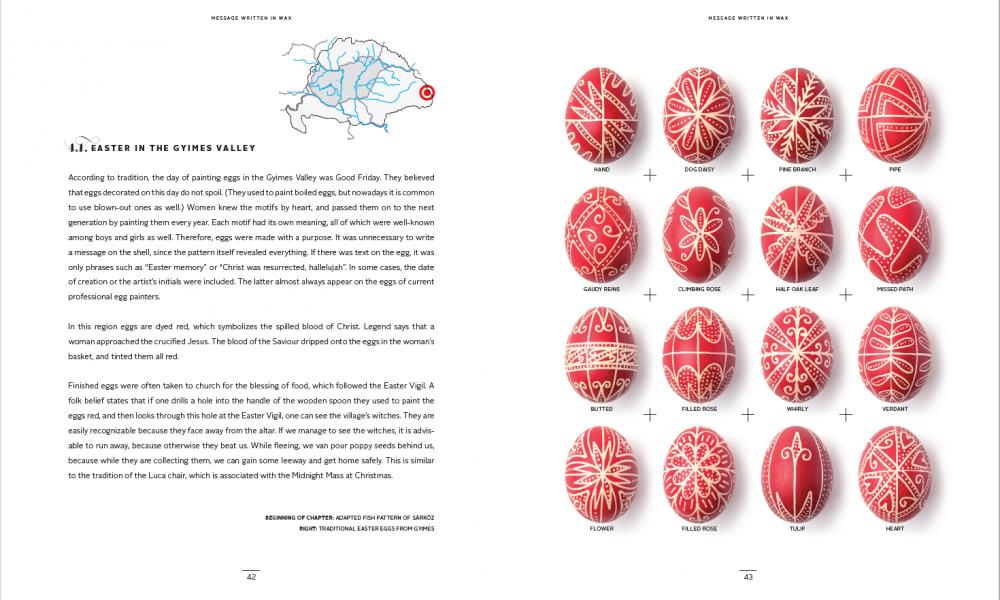 Message Written In Wax Easter Egg Design Book